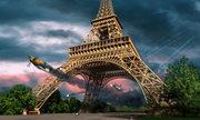 Phi công Mỹ rượt đuổi tiêm kích Đức dưới chân tháp Eiffel năm 1944