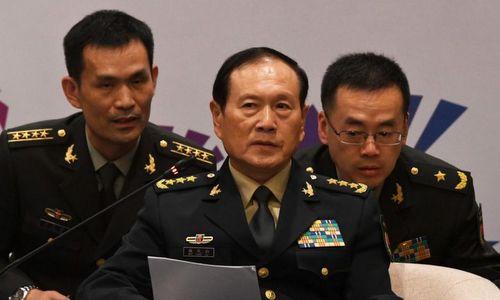 Tướng Ngụy Phượng Hòa phát biểu tại hội nghị ADMM+. Ảnh: Reuters.