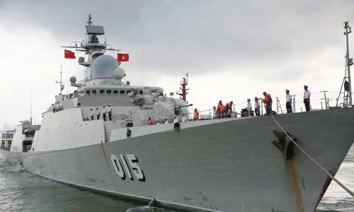 Tàu hộ vệ tên lửa Trần Hưng Đạo của Việt Nam. Ảnh: BQPTQ.