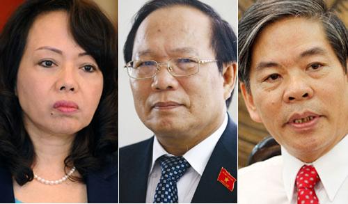 Ba thành viên Chính phủ có số phiếu tín nhiệm cao ít nhất là Bộ trưởng Tài Nguyên Môi trường Nguyễn Minh Quang, Bộ trưởng Văn hóa, Thể thao và Du lịch Hoàng Tuấn Anh,Bộ trưởng Y tế Nguyễn Thị Kim Tiến.