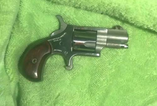 Khẩu súng mà Hiếu đã dùng để gây án.
