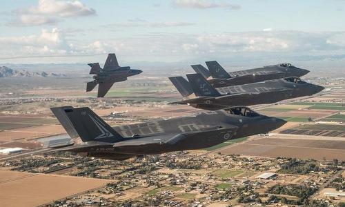 Một phi đội F-35A củakhông quân Mỹ. Ảnh: USAF.