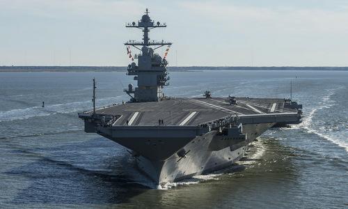 Tàu sân bay USS Gerald R. Ford. Ảnh: Hải quân Mỹ.