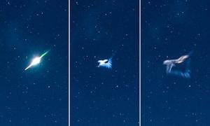 Sao băng rực sáng nổ tung giữa bầu trời Anh