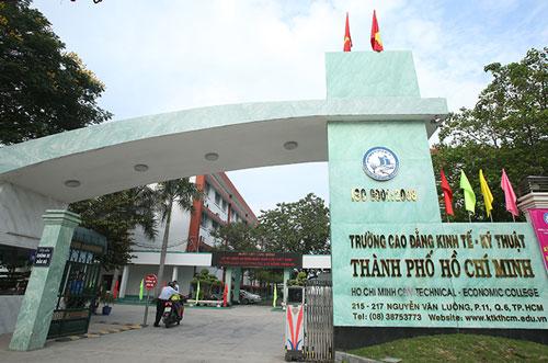 Cơ sở chính trường Cao đẳng Kinh tế - Kỹ thuật TP HCM ở quận 6. Ảnh: ktkthcm.edu.vn