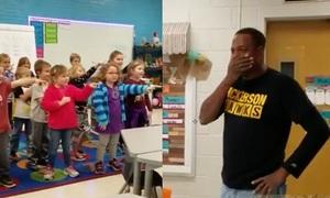 Lao công khiếm thính nghẹn ngào khi học sinh mẫu giáo hát mừng sinh nhật