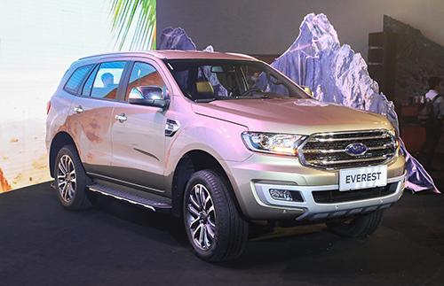 Ford Everest 2018 lắp hộp số 10 trong lần ra mắt báo chí tại TP HCM, tháng 9/2018. Ảnh: Đức Huy.