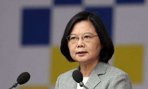 Lãnh đạo Đài Loan trong một cuộc họp báo hồi đầu năm nay. Ảnh: SCMP.