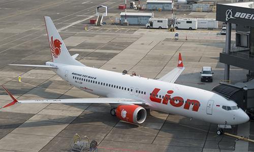 Chiếc Boeing 737 MAX 8 của Lion Air trước khi gặp nạn. Ảnh: Tangerangonline