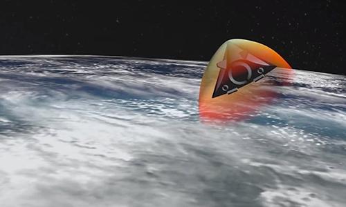 Đồ họa vũ khí siêu vượt âm Avangard. Ảnh: BQP Nga.