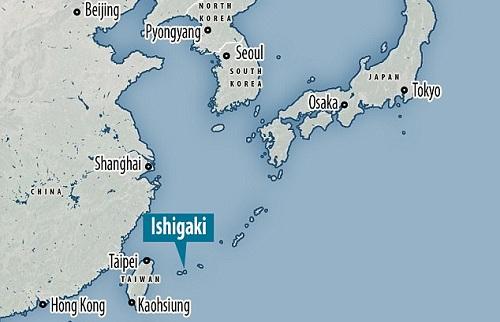 Vị trí đảo Ishigaki. Đồ họa: Atlas.