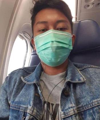Bức ảnh selfie Deryl Fida Febrianto gửi cho vợ trước khi chuyến bay JT610 cất cánh hôm 29/10. Ảnh: Sun.