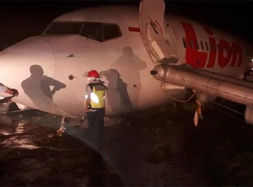 Máy bay của Lion Air trượt khỏi đường băng ở sân bay Jalaluddin