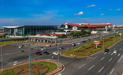 Nhà ga T1 sân bay Nội Bài. Ảnh: Xuân Hoa.