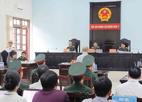Phiên xử diễn ra tại trụ sở tòa án quân sự thủ đô. Ảnh:TTXVN.