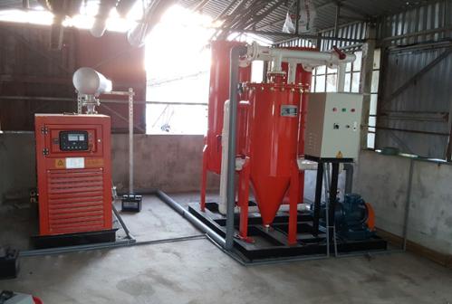 Máy phát điện cỡ lớn chạy bằng khí biogas tiết kiệm chi phí điện lưới tại trang trại ở Nam Định.