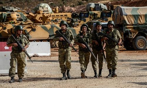Binh sĩ Thổ Nhĩ Kỳ tại vùng biên giới Syria. Ảnh: AFP.