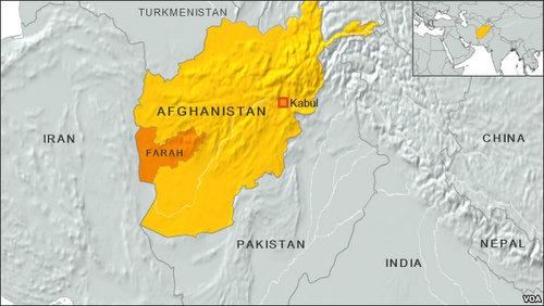 Tỉnh Farah ở phía tây Afghanistan. Đồ họa: Tasnim News.