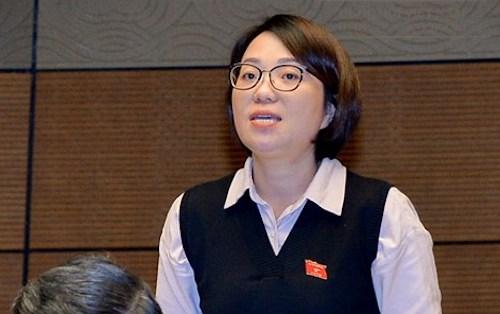 Đại biểu Phạm Thị Minh Hiền tại Quốc hội. Ảnh: QH