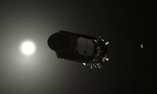 Kepler ngừng hoạt động ở cách Trái Đất 151 triệu km. Ảnh: NASA.