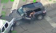 Chở theo con nhỏ, nữ tài xế chạy trốn cảnh sát như phim tốc độ