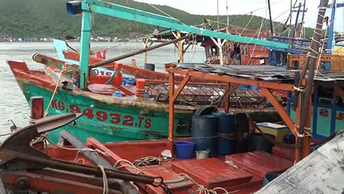 Ba tàu cá Việt Nam bị  hải quân Thái Lan bắt giữ hôm 29/10. Ảnh: The Thaiger