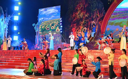 Chương trình nghệ thuật Truông Bồn miền đất huyền thoại. Ảnh: VGP/Quang Hiếu.