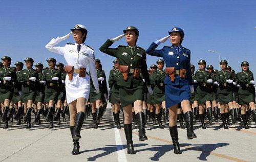 Một khối duyệt đội ngũ của các nữ binh sĩ Trung Quốc. Ảnh: PLA.