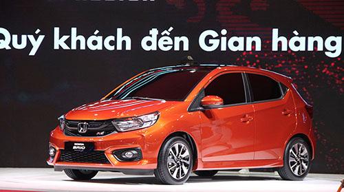 Honda Brio trưng bày tại triển lãm ôtô Việt Nam 2018 ở TP HCM. Ảnh: Thành Nhạn.