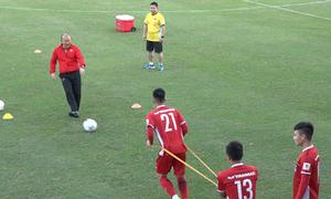 Buổi tập đầu tiên của đội tuyển Việt Nam sau chuyến tập huấn ở Hàn Quốc