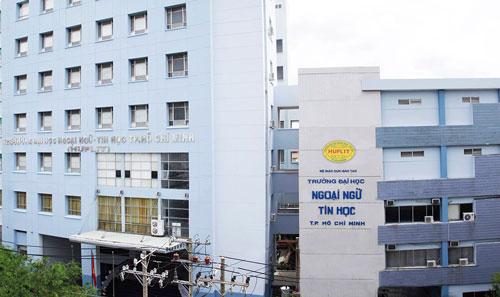Đại học Ngoại ngữ - Tin học TP HCM có trụ sở chính tại quận 10. Ảnh: HUFLIT.