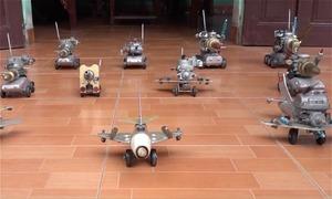Bộ sưu tập xe tăng, phi cơ chiến đấu làm từ xác máy bay Mỹ