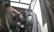 Tài xế và hành khách Trung Quốc đánh nhau khiến xe buýt lao xuống sông