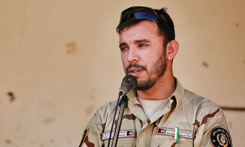Tướng Abdul Raziq tại Daykundi năm 2017. Ảnh: ADF.