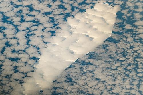 Hình ảnh tảng băng trôi B-15T chụp từ Trạm Vũ trụ Quốc tế hôm 23/9. Ảnh: NASA.