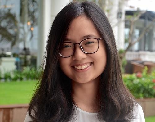 Nguyễn Nga Nhi - tác giả mô hình Toán tương tác. Ảnh: NVCC