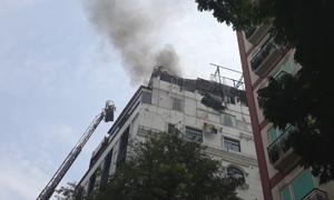 Cháy lớn tại khách sạn ở trung tâm Sài Gòn