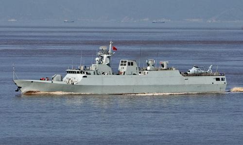 Một tàu hộ vệ hạng nhệ lớp Type-056. Ảnh: Sina.