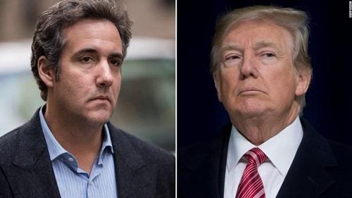 Tổng thống Mỹ Donald Trump (phải) và cựu luật sư riêng Michael Cohen. Ảnh: AP.