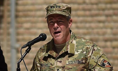 Tướng Miller trong một sự kiện tại Afghanistan năm 2017. Ảnh:AFP.