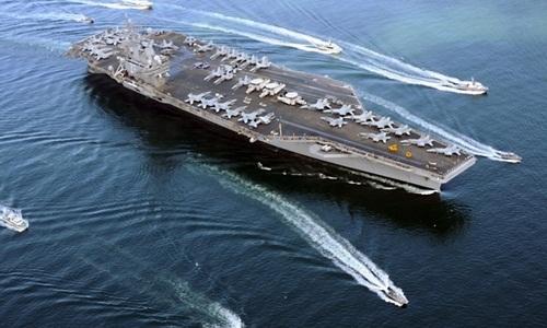 Tàu sân bay USS Ronald Reagan của Mỹ. Ảnh: US Navy.