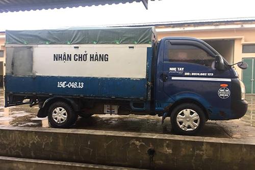 Chiếc xe tải Mạnh điều khiển để đi trộm hộp đen. Ảnh:Quang Hà