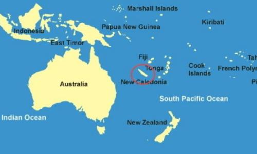 Vị trí của New Caledonia ở Thái Bình Dương. Đồ hoạ: Africanglobe.