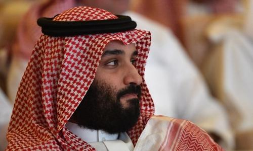 Thái tử Arab Saudi Mohammed bin Salman tại hội nghị về đầu tư ở Riyadh ngày 23/10. Ảnh:AFP.
