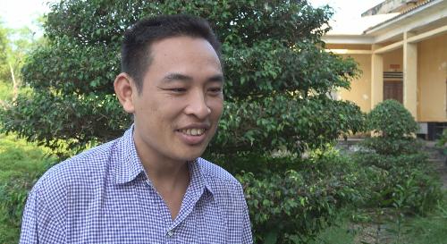 Anh Trịnh Văn Kiên, một chủ trang trai phấn khởi khi nhiều thắc mắc được giải đáp thấu đáo.