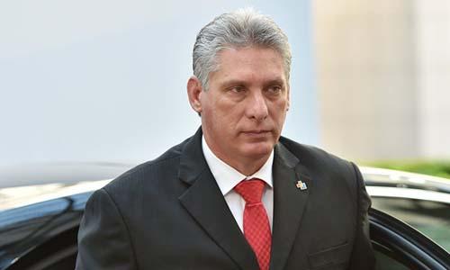 Chủ tịch Cuba Miguel Diaz-Canel. Ảnh: AFP.
