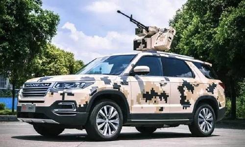 SUV gắn súng máy hạng nặng điều khiển từ xa của Trung Quốc. Ảnh: Popular Mechanics.