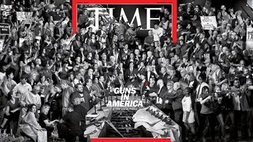 Trang bìa của Time ngày 5/11, trong đó dân biểu gốc Việt Stephanie Murphy ở vị trí trung tâm (dấu x đỏ). Ảnh: Time