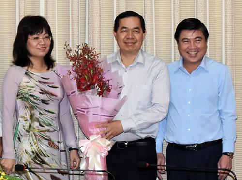 Giám đốc Sở Kế hoạch và Đầu tư TP HCM Sử Ngọc Anh (giữa). Ảnh: Trung Sơn