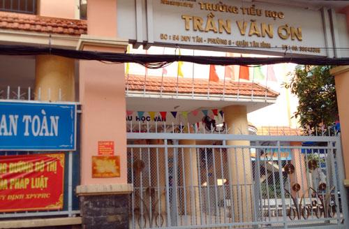 Trường Tiểu học Trần Văn Ơn, quận Tân Bình, TP HCM. Ảnh: Mạnh Tùng.